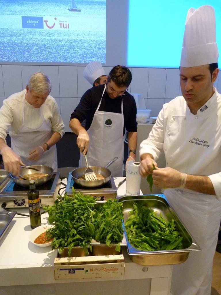 Griechisch Kochen in der World of TUI staedtereisen europa  P1060144