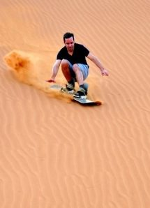 TUI, Reisebüro, World of TUI, Berlin,Jörg Kästner, Sandboarding, Ras Al Khaimah, Dubai, Banyan Tree Al Wadi