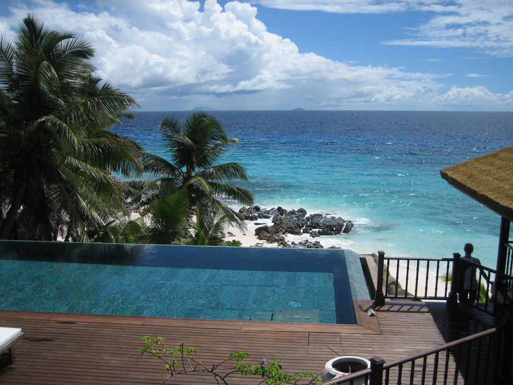 Seychellen. Frégate Island Private strand sonne seychellen reisebericht indischer ozean orient honeymoon 2  tui berlin seychellen fregate island ausblick