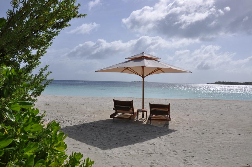 Malediven   wie finde ich meine Insel? Gefunden: Anantara Kihavah Maldives Villen strand sonne reisebericht malediven indischer ozean orient honeymoon 2  tui berlin Anantara Kihavah Sonnenliegen