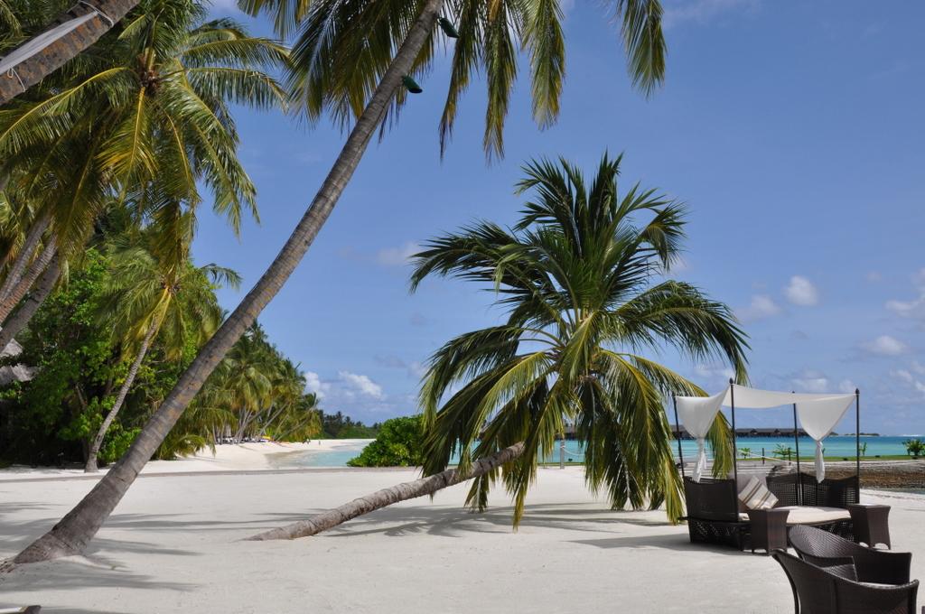 Shangri La Villingili   von Puderzuckerstrand und anderen Nebensächlichkeiten strand sonne malediven indischer ozean orient honeymoon 2  tui berlin Malediven Shangri La Villingili Lounge Strand