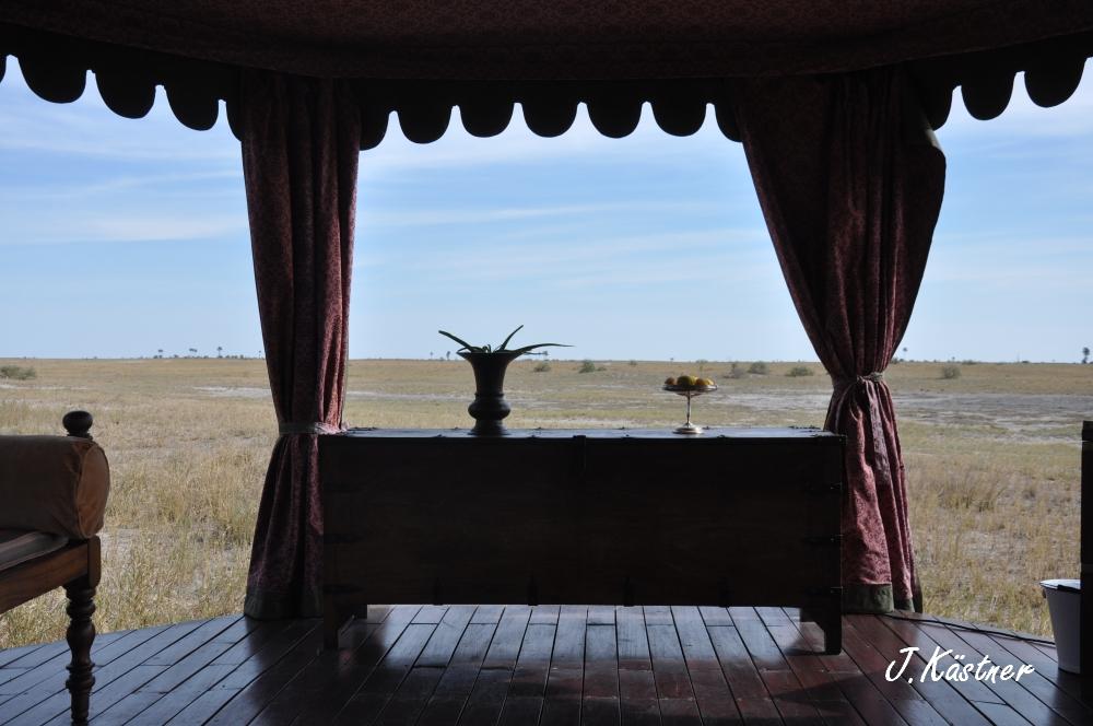 Botswana Treasures. sonne safari botswana afrika  tui berlin Botswana Jacks Camp Kalahari Ausblick