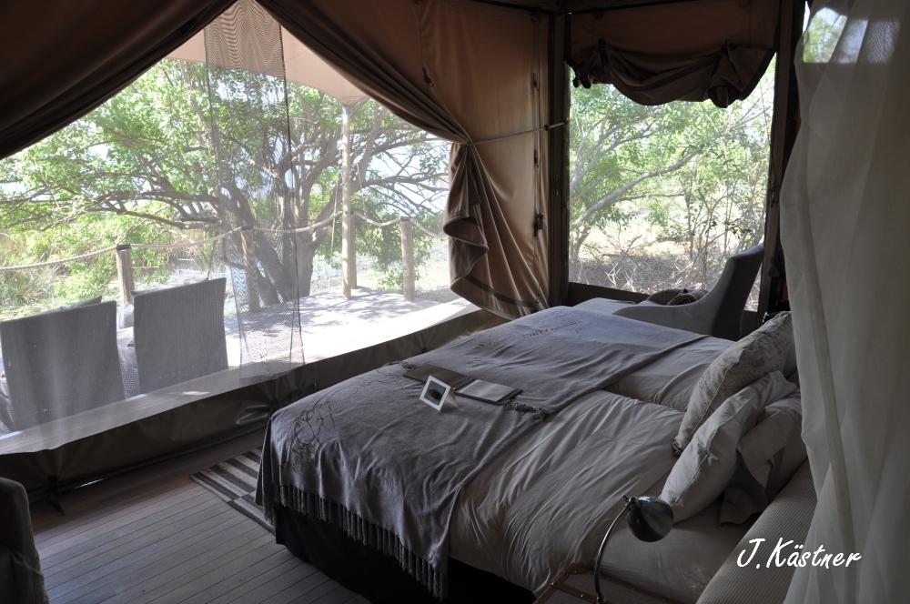 Botswana Treasures. sonne safari botswana afrika  tui berlin Botswana Linyanti Duma Tau Camp Zelt