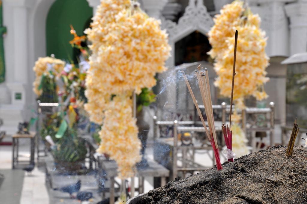 Myanmar. Von goldenen Pagoden und Einbein Fischern. sonne land und leute myanmar asien  tui berlin Myanmar Shwedagon Pagode Opfern 1