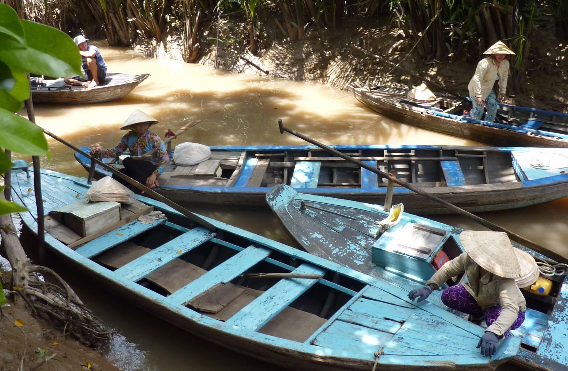 Kulinarisch unterwegs im Mekongdelta. Von Drachenaugen und Elefantenohrfischen. vietnam sonne land und leute asien  tui berlin vietnam mekongdelta boote 1