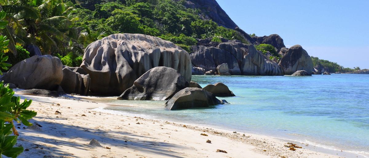 Traumtage auf den Seychellen: Mahé   La Digue   Praslin strand sonne seychellen indischer ozean orient honeymoon 2  tui berlin Seychellen Pte Source D Argent Bucht