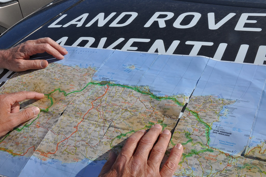 Offroad auf Kreta unterwegs   Land Rover Adventure Tour Greece 2015 sonne land und leute griechenland europa  tui berlin kreta offroad tour karte1