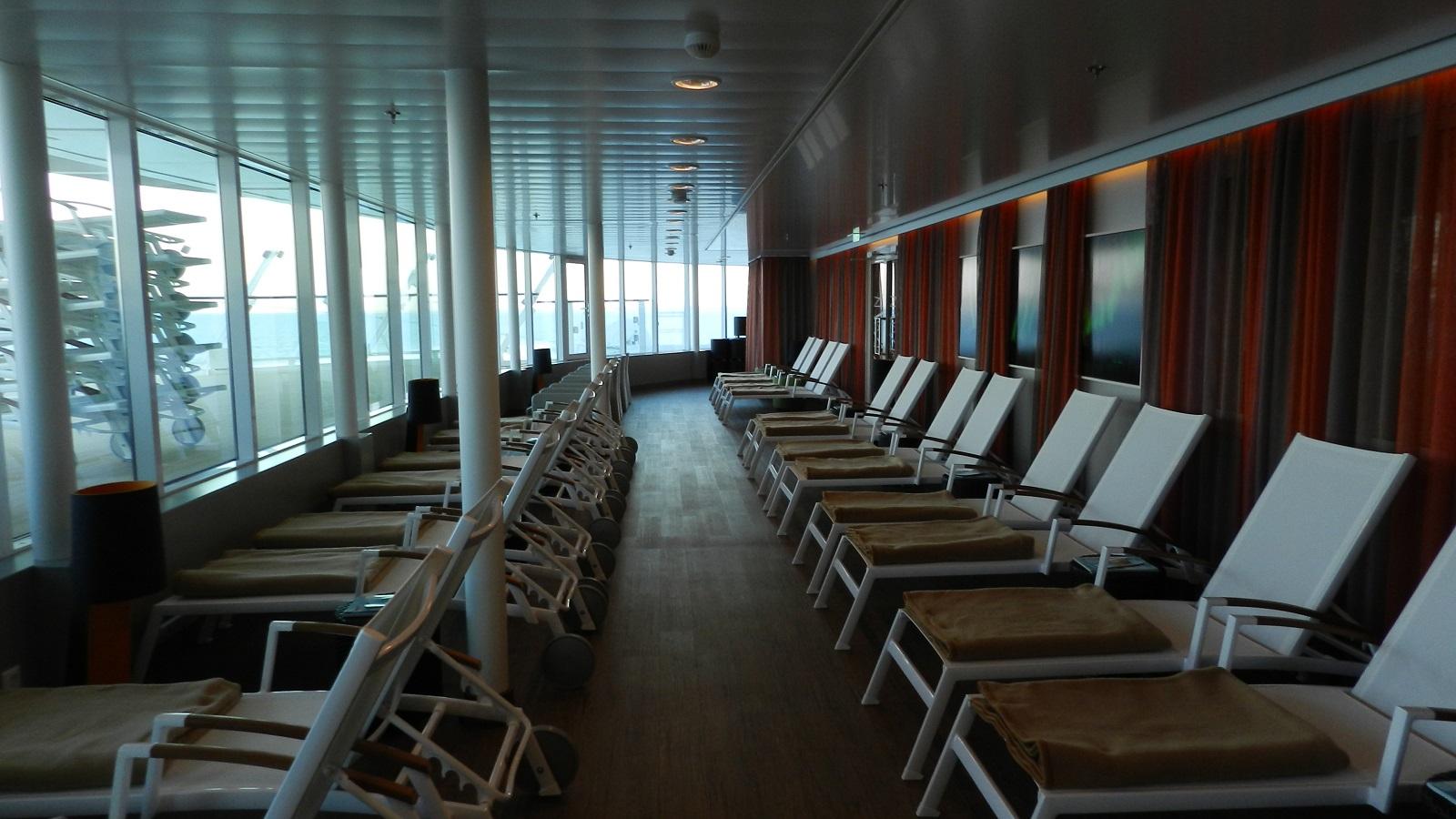 Allein an Bord der Mein Schiff 4 kreuzfahrt europa  tui berlin mein schiff4 entspannungsbereich
