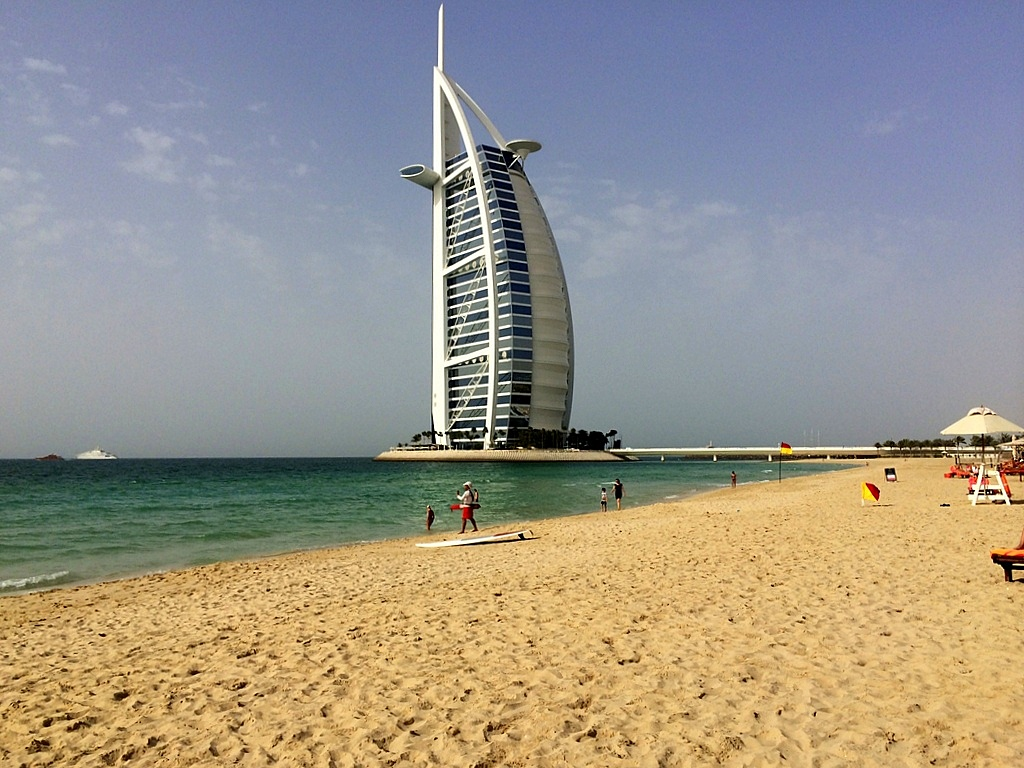 Meine Reise nach Dubai und in den Oman. staedtereisen sonne orient oman dubai  tui berlin Dubai Burj al Arab Jumeirah Beach