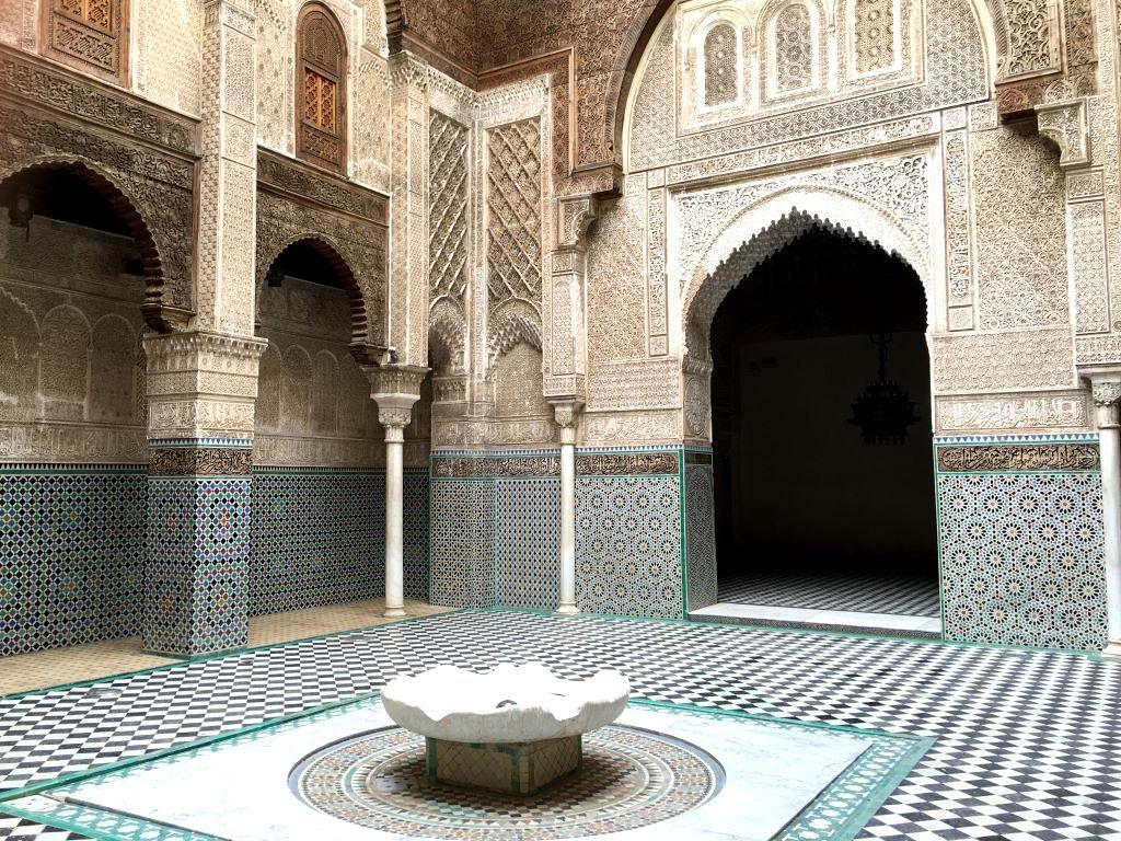 Marokkos Königsstädte   Eine Gebeco Erlebnisrundreise staedtereisen sonne land und leute marokko afrika  tui berlin marokko fes medersa attarine 1