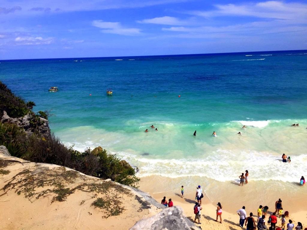 Mexiko   Entspannung und Kultur an der Riviera Maya strand sonne land und leute reisebericht mexiko  TUI Berlin Mexico Strand Tulum