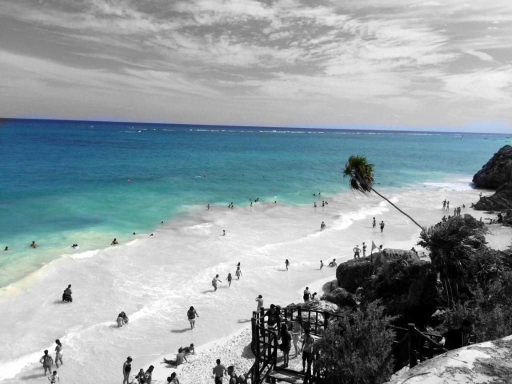 Mexiko   Entspannung und Kultur an der Riviera Maya strand sonne land und leute reisebericht mexiko  TUI Berlin Strand bei Tulum