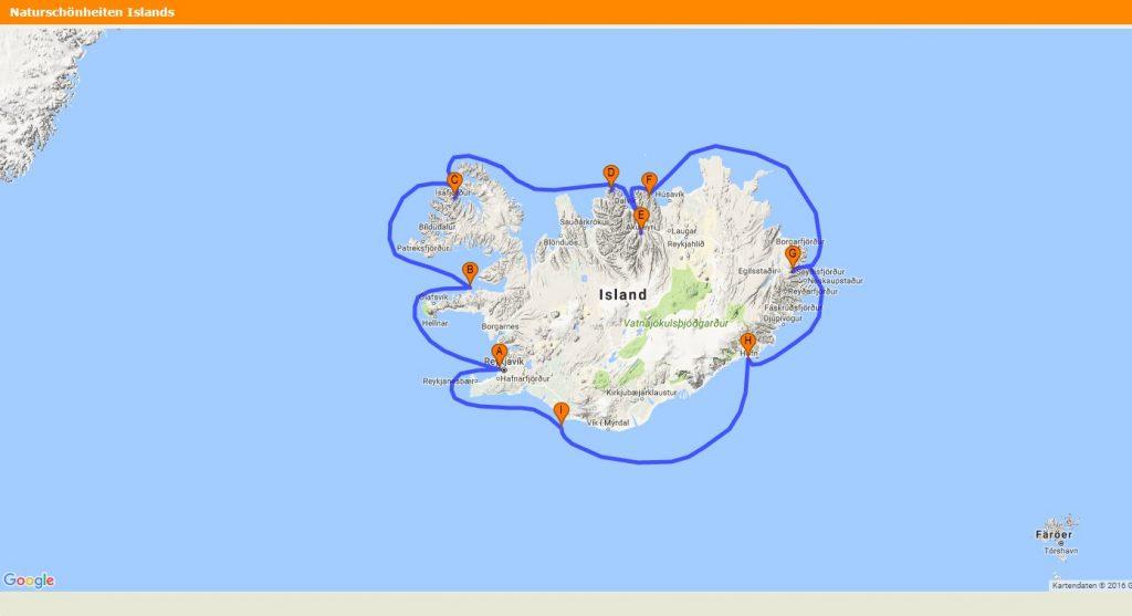Islands Höhepunkte   Expeditions Kreuzfahrt bei TUI Wolters zum Frühbucherpreis! tui hotels sonne land und leute kreuzfahrt angesagte reiseziele angebote und specials angebot  Reiseverlauf 1024x557