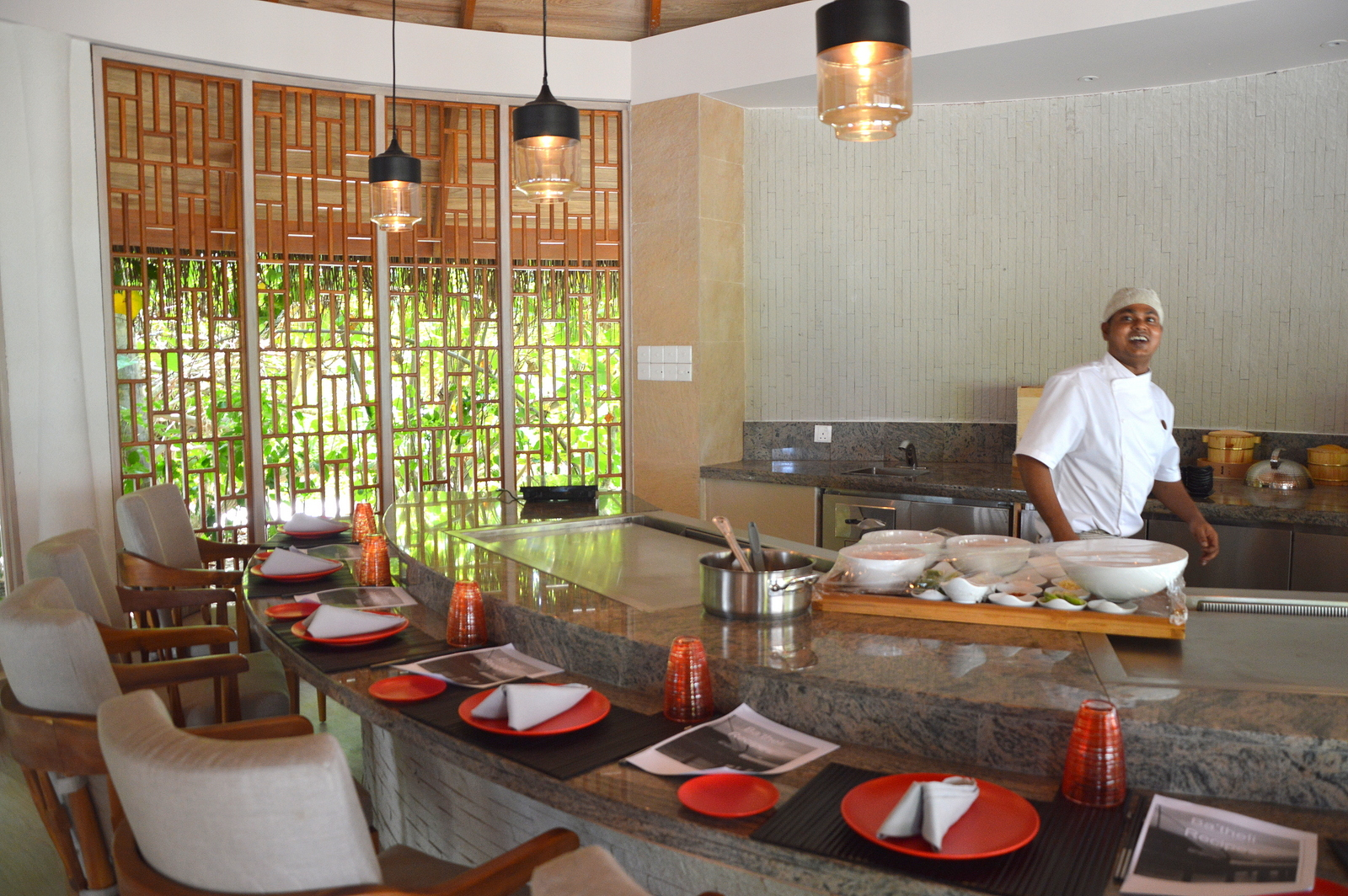 Malediven    die neue Trauminsel Milaidhoo im Baa Atoll strand sonne reisebericht malediven honeymoon 2  TUI Berlin Reisebüro Malediven Milaidhoo Island Chefs Table