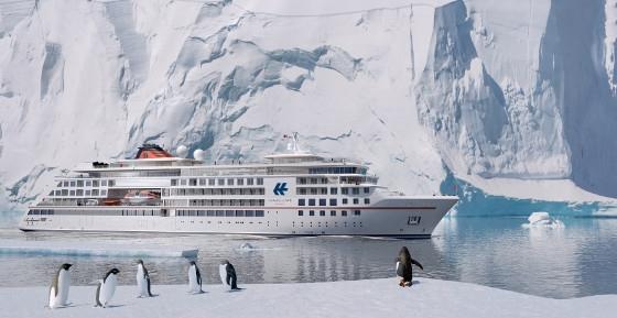 Schiffsnamen enthüllt   die beiden neuen Expeditionsschiffe von Hapag Lloyd sonne land und leute news kreuzfahrt angebot airtours kreuzfahrten  tui berlin hapag lloyd neue schiffe pinguine 1