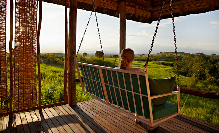 Uganda – auf den Spuren der Schimpansen und Berggorillas uganda sonne safari reisebericht new afrika  TUI Berlin Uganda Kyambura Gorge Lodge2
