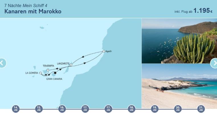 Angebote der Woche: TUI Cruises Mein Schiff Wohlfühlgarantie tui cruises sonne kreuzfahrt angebote und specials angebot  tui berlin kanaren mit marokko