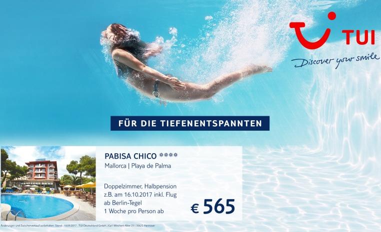 +++ TUI DEAL DER WOCHE   jede Woche neu für Sie! +++ tui hotels strand sonne mallorca dominikanische republik angebote und specials angebot  tui berlin pabisa chico angebot