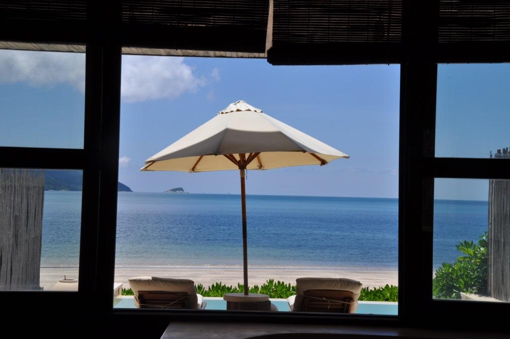 Six Senses Resort Con Dao Aussicht aus der Beachvilla - World of TUI Berlin Reisebericht