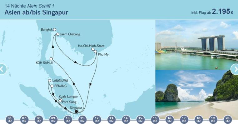 Angebote der Woche: TUI Cruises Mein Schiff Wohlfühlgarantie tui cruises sonne kreuzfahrt angebote und specials angebot  tui berlin tuicruises asien ab bis singapur