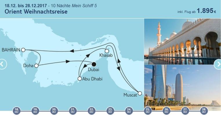 Weihnachten bei TUI Cruises tui cruises kreuzfahrt angebote und specials angebot  tui berlin tuicruises orient weihnachtsreise 1