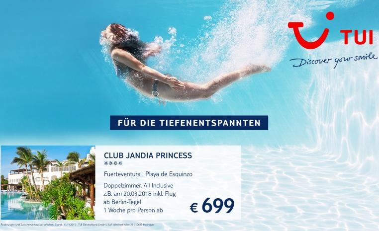 +++ TUI DEAL DER WOCHE   jede Woche neu für Sie! +++ tui hotels strand sonne mauritius kanaren angebote und specials angebot  tui berlin club jandia princess angebot