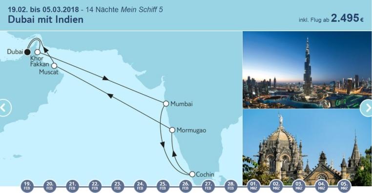 Angebote der Woche: TUI Cruises Mein Schiff Wohlfühlgarantie tui cruises sonne kreuzfahrt angebote und specials angebot  tui berlin tuicruises dubai mit indien