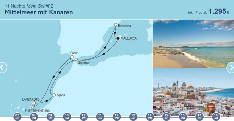 Angebote der Woche: TUI Cruises Mein Schiff Wohlfühlgarantie tui cruises sonne kreuzfahrt angebote und specials angebot  tui berlin tuicruises mittelmeer mit kanaren