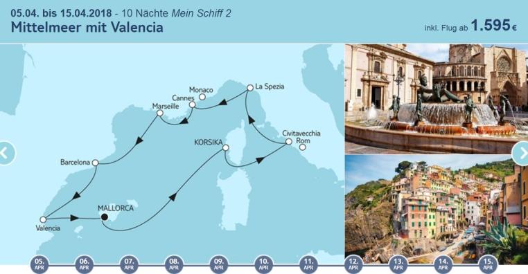 Angebote der Woche: TUI Cruises Mein Schiff Wohlfühlgarantie tui cruises sonne kreuzfahrt angebote und specials angebot  tui berlin tuicruises mittelmeer mit valencia