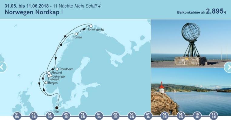 Ich bin dann mal Fjord tui cruises kreuzfahrt angebote und specials angebot  tui berlin tuicruises norwegen nordkap