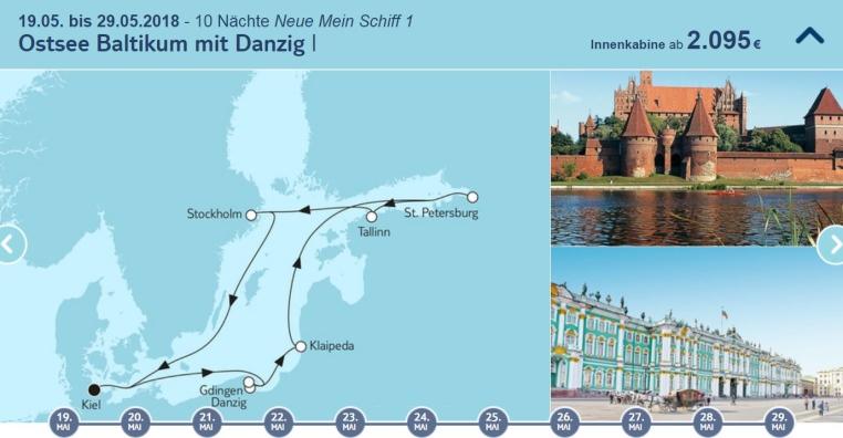 Ich bin dann mal Fjord tui cruises kreuzfahrt angebote und specials angebot  tui berlin tuicruises ostsee baltikum mit danzig