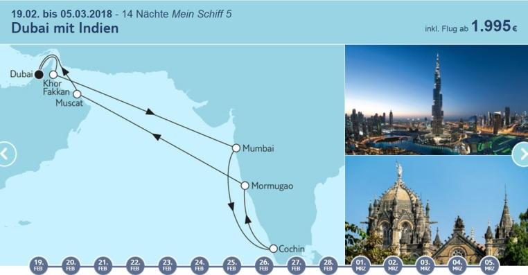 Angebote der Woche: TUI Cruises Mein Schiff Wohlfühlgarantie tui cruises sonne kreuzfahrt angebote und specials angebot  tui berlin tuicruises dubai mit indien 1