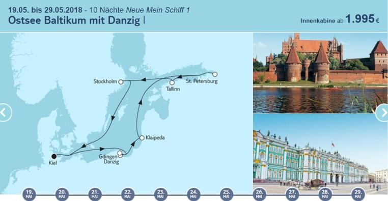 Angebote der Woche: TUI Cruises Mein Schiff Wohlfühlgarantie tui cruises sonne kreuzfahrt angebote und specials angebot  tui berlin tuicruises ostsee baltikum mit danzig