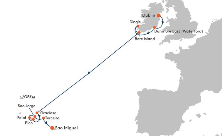 HANSEATIC und BREMEN   Expiditionsreisen mit Hapag Lloyd sonne kreuzfahrt expertentipps angebote und specials  tui berlin irland azoren route