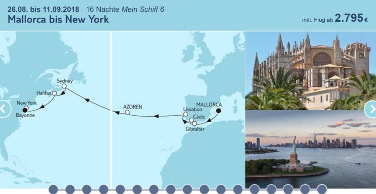 TUICruises   Mein Schiff Angebote der Woche tui cruises sonne kreuzfahrt angebote und specials angebot  tui berlin tuicruises mallorca bis new york