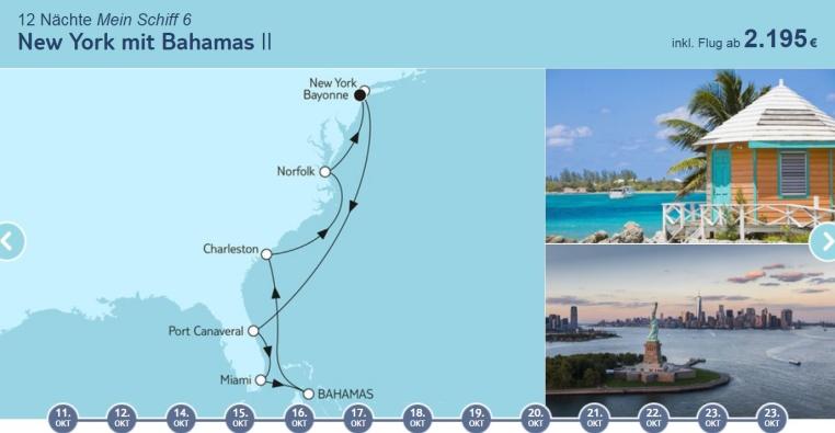TUICruises   Mein Schiff Angebote der Woche tui cruises sonne kreuzfahrt angebote und specials angebot  tui berlin tuicruises new york mit bahamas 2