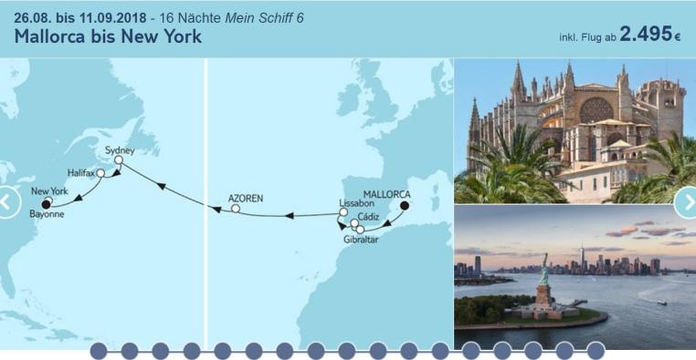 Mein Schiff Highlight Angebote tui cruises sonne kreuzfahrt angebote und specials angebot  tui berlin tuicruises mallorca bis new york
