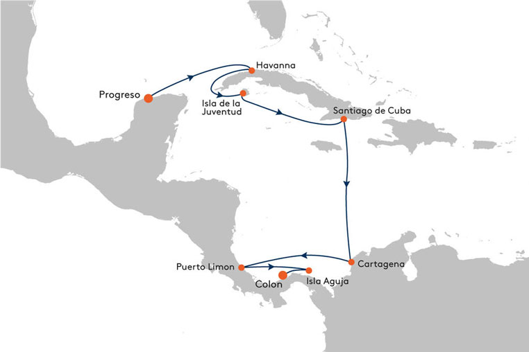 Viva Cuba! Mit MS EUROPA die Perle der Karibik entdecken tui cruises sonne kuba kreuzfahrt expertentipps  tui berlin ms europa kuba karte