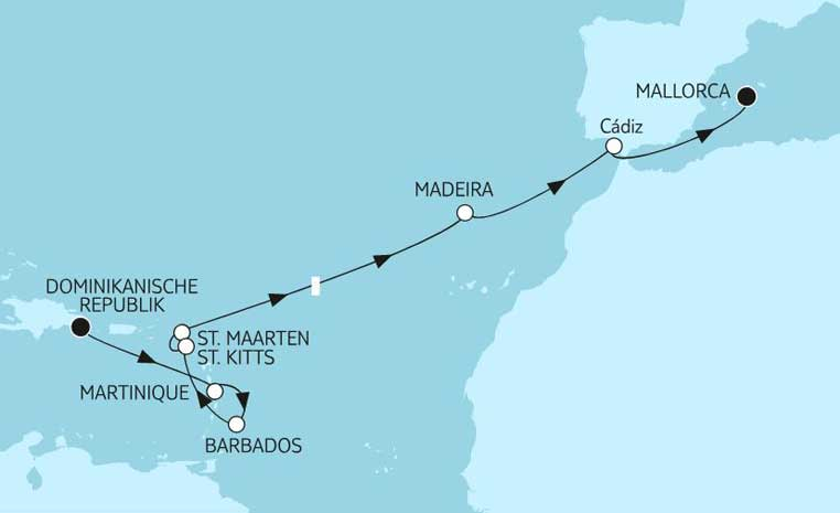 Weihnachten bei TUI Cruises tui cruises kreuzfahrt angebote und specials angebot  tui berlin dominikanische republik bis mallorca 1