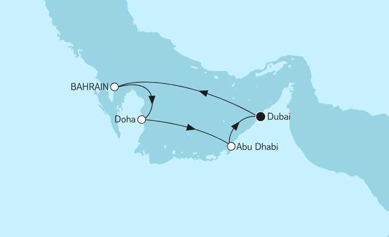 Weihnachten bei TUI Cruises tui cruises kreuzfahrt angebote und specials angebot  tui berlin dubai mit katar