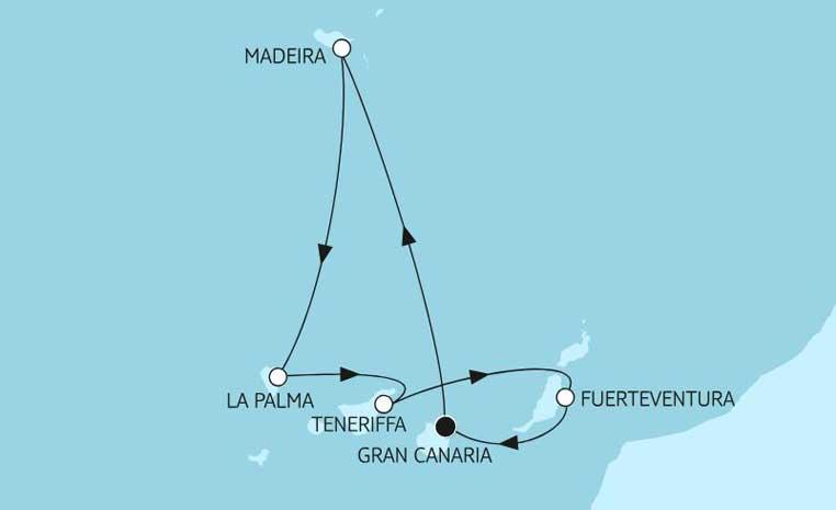 Weihnachten bei TUI Cruises tui cruises kreuzfahrt angebote und specials angebot  tui berlin kanaren mit madeira