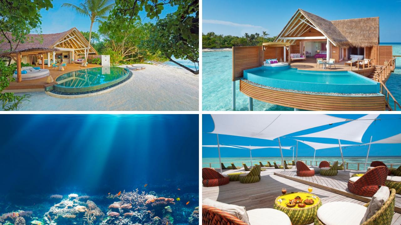 Trauminseln der Malediven: Universal Resorts tui airtours hoteltipps strand sonne malediven indischer ozean orient honeymoon 2 angebot  tui berlin milaidhoo canva