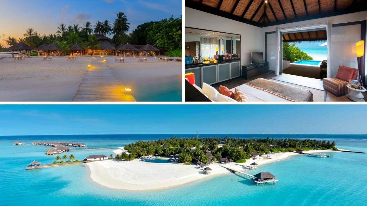 Trauminseln der Malediven: Universal Resorts tui airtours hoteltipps strand sonne malediven indischer ozean orient honeymoon 2 angebot  tui berlin velassaru maldives canva