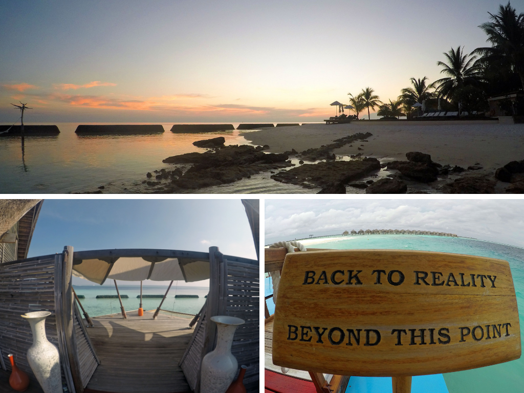 Malediven   Constance Hotels and Resorts strand reisebericht new malediven  Constance Moofushi Abendstimmung 1