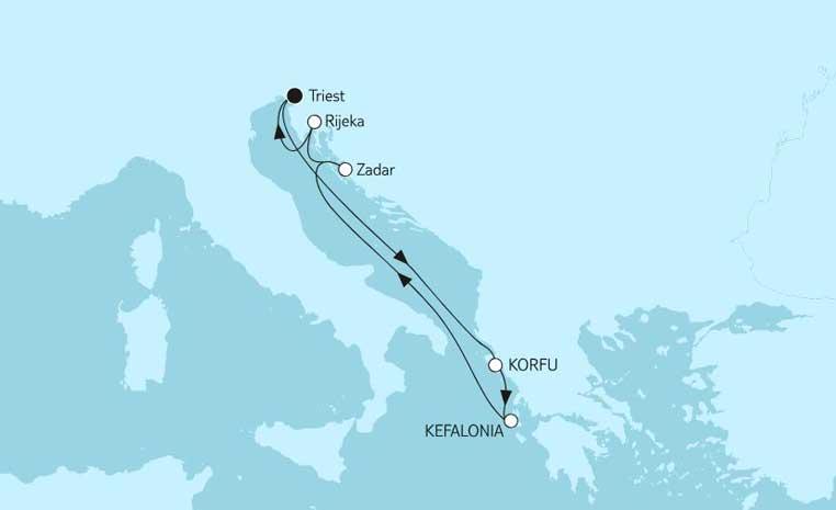 Sommerschlussverkauf bei TUI Cruises tui cruises sonne kreuzfahrt angebote und specials angebot  tui berlin tuicruises adria mit korfu 1