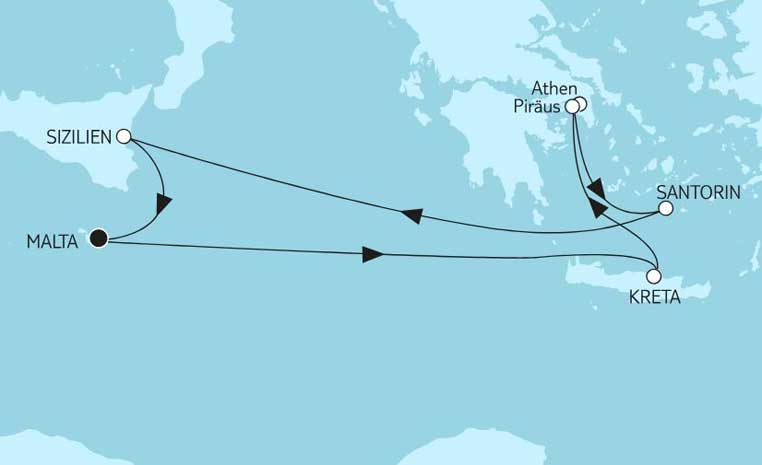 Sommerschlussverkauf bei TUI Cruises tui cruises sonne kreuzfahrt angebote und specials angebot  tui berlin tuicruises mittelmeer mit griechenland