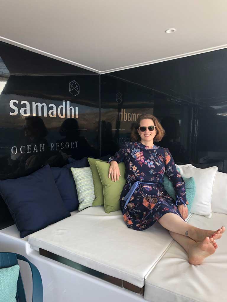 Samadhi Ocean Resort   Mein Besuch auf der privaten  Segelyacht sonne reisebericht new kanaren expertentipps  tui berlin samadhi teneriffa sibylle relaxen 3