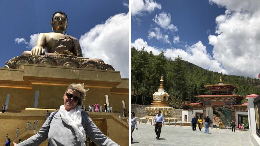 Sitzende Buddha-Statue, Great Buddha Dordenma - World of TUI Berlin Reisebericht
