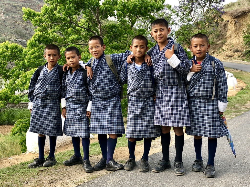 Schulkinder in Bhutan - World of TUI Berlin Reisebericht