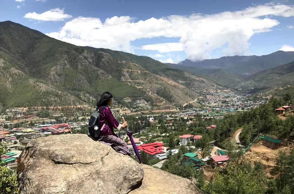 Ausblick Thimphu-Tal, Bhutan - World of TUI Berlin Reisebericht